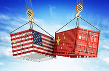 Economic trade war between USA and China, freight transportation