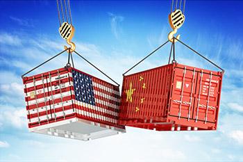 Economic trade war between USA and China, freight transportation